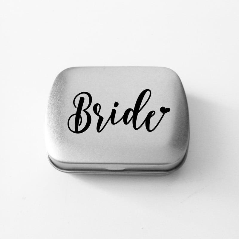 """Bride Heart"" Κουτάκι με μέντες για τη νύφη"