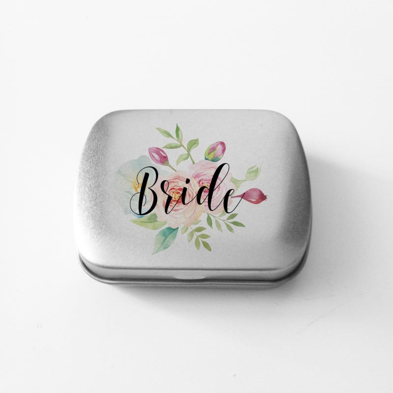 """Floral Bride"" Κουτάκι με μέντες για τη νύφη"