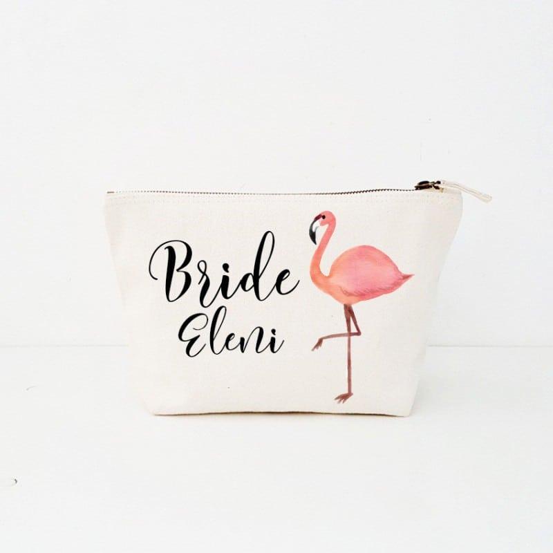 """""""Flamingo Bride"""" Νυφικό τσαντάκι"""