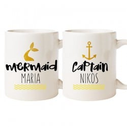 """Mermaid & Captain"" Set Κούπες"