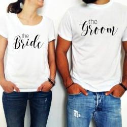 """Bride & Groom"" Set Tshirt Για το Ζευγάρι"