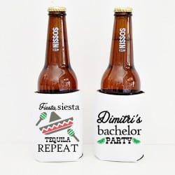 """Tequila"" Bachelor cooler sleeve"