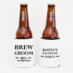 """Brew Groom"" Cooler sleeve για το γαμπρό"
