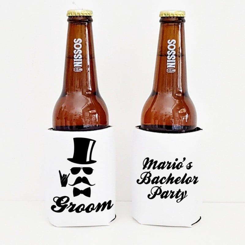 """""""Rock on Groom"""" Cooler sleeve για το γαμπρό"""