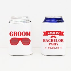 """Sunglasses Groom"" Cooler sleeve για το γαμπρό"