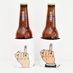 """""""The finger"""" Set cooler sleeves για τη νύφη και το γαμπρό"""