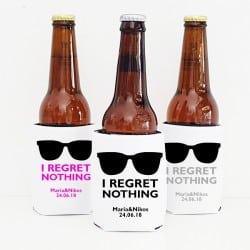 """Regret nothing"" Cooler sleeve για το γάμο"
