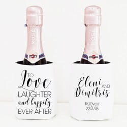 """Happily ever after"" Cooler sleeve για το γάμο"