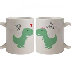 """Dino hug"" κούπες για το ζευγάρι"