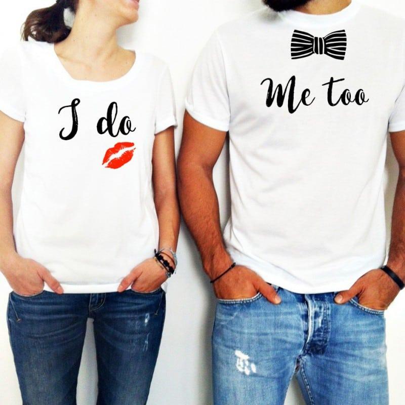"""""""I Do-Me Too"""" Set Tshirt Για το Ζευγάρι"""