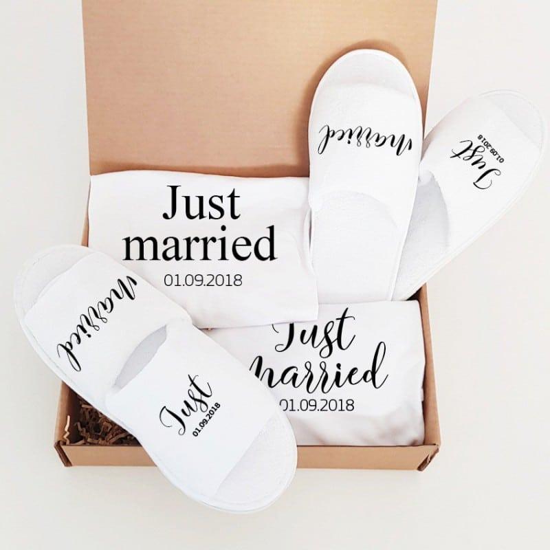 """""""Just Married"""" Κουτί γάμου για το ζευγάρι"""