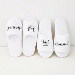 """""""Just Married"""" Σετ παντοφλάκια για το ζευγάρι"""