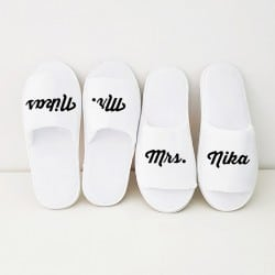 """Mr & Mrs"" Set παντοφλάκια για το ζευγάρι"