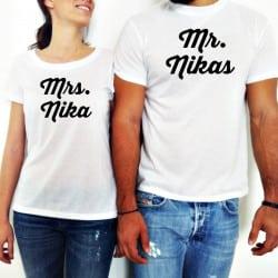 """Mr & Mrs"" Set tshirt για το ζευγάρι"