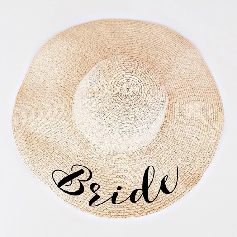 """Mπεζ πλατύγυρο καπέλο """"Bride"""""""