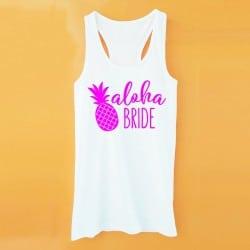 """""""Aloha Pineapple"""" Λευκό τιραντάκι για τη νύφη"""