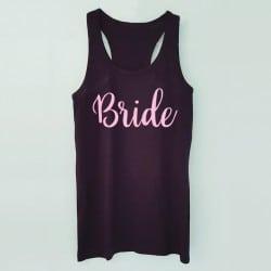 """""""Bride"""" Μαύρο τιραντάκι για τη νύφη"""