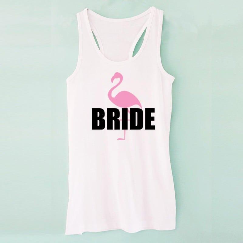 """Flamingo"" Λευκό τιραντάκι για τη νύφη"